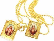 Escapulario-Antiguo Clasico del Corazón Inmaculado de la Virgen Maria de 18k de