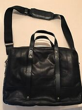 Banana Republic Nwot Italian Leather Briefcase Mens Designer Business Bag