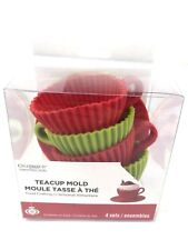 Tea Cup Silicone Mold Cupcake Muffin Set of 4 Baking