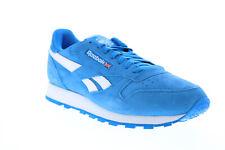 Reebok Classic Leather FV9873 мужская синяя замша повседневные кроссовки, обувь