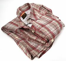 TIMBERLAND - Men's Checked Linen Shirt S/S - Medium - Excellent Condition.