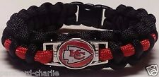 Kansas City Chiefs Black & Red Paracord Bracelet or Lanyard or Deluxe Key Chain
