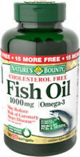 135 Fish Oil 1000mg Omega-3 Cholesterol Free Nature's Bounty Supplement Vitamin