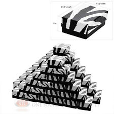 "50 Zebra Print Cotton Filled Gift Boxes Jewelry Pendant Charm 2 5/8"" X 1 1/2"""