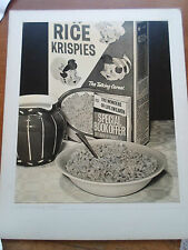 "Vintage Old Photograph RICE KRISPIES ~ Breakfast ~10"" x 12"" Suitable for Framing"