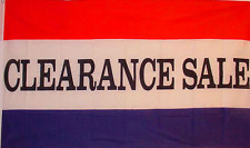 NEW 3X5FT CLEARANCE SALE BANNER PRINT SIGN  STORE FLAG