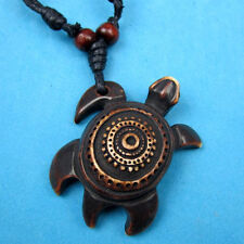 Tribal Style Yak Bone Sea Turtle Pendant Necklace RH040