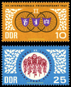 EBS East Germany DDR 1967 International Cycle for Peace Michel 1278-1279 MNH**
