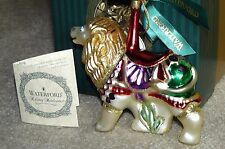 Waterford Holiday Heirlooms Carousel Lion 2002 Christmas Ornament # 242/2500