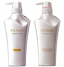 NEW TSUBAKI Shiseido Damage Care Shampoo 500ml & Conditioner 500ml set F/S