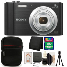 Sony Cyber-Shot DSC-W800 20.1MP Digital Camera Black with Great Value Kit
