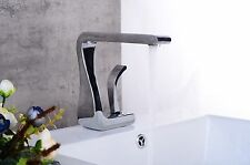 Chrome bathroom basin vessel sink faucet waterfall deck mounted Single Hole tap