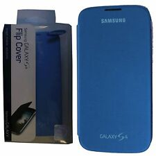 New Genuine Samsung Galaxy S4 S 4 Flip Cover OEM Case BLUE in Retail