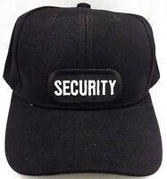 SECURITY Guard Cop Embroidered Patch Baseball Ball Cap Adjustable Biker CAP-0031