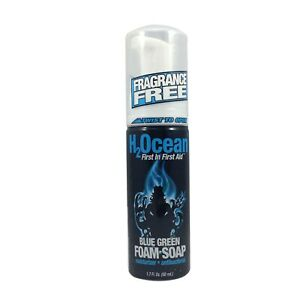 H2Ocean Blue Green Foam Tattoo Body Aftercare Supply Natural First Aid 1.7 Oz