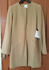 BNWT Aussie KARLA SPETIC Austin Wool Angora blend long Coat tan camel sand