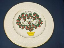 1981 Anchor Hocking 2nd Day Christmas Plate Holiday Greeting byShenango Pottery