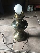 Aladdin Model #11 Nickel Plated Oil Lamp Electrified Table Lamp