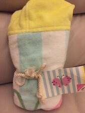 Pottery Barn Kids Baby Butterfly Pink Yellow Light Green Beach Wrap Bath NWT