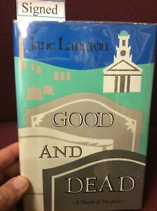 Jane Langton Mystery Good And Dead Signed First Edition Drawing
