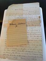 1871 Handwritten Letter Genealogy William Andrews Jr Alida Collins Hudson Ohio