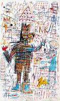 """Jean Michel Basquiat Print on Canvas Abstract art decor Untitled Drawing 24x48"""""""