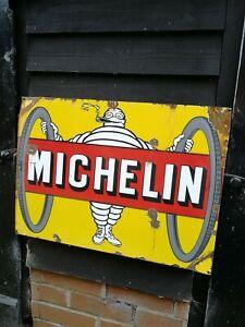 Michelin Enamel Sign Michelin Tyres enamel sign Bibendom enamel sign porcelain