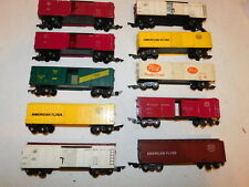 VINTAGE AMERICAN FLYER LOT OF 10 FREIGHT/STOCK CARS, LINK COUPLERS, NR!!