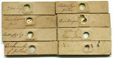 8 Small ca. 1850 Microscope Slides - Various Specimens