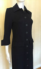 St. John Long Jacket Trench Coat Blazer Sweater Dress Navy Size 4, 6 Stunning