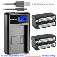 Kastar Battery LCD Charger for NP-F770 Sony MVC-FD73 MVC-FD75 MVC-FD81 MVC-FD83