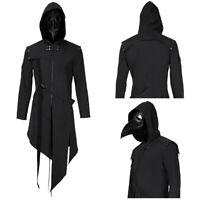 Plague Doctor Cosplay Costume Steampunk Gothic Hoodie Jacket Coat Jacket Mask