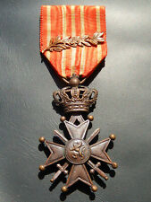 2.6J) Médaille militaire BELGE CROIX DE guerre 1914 1918 belgian medal