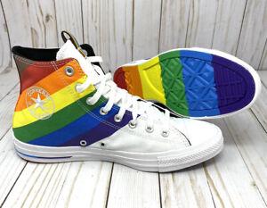 Converse Pride Chuck Taylor UniSex Hi Top Rainbow striped LGBTQ Men's 9.5 W/11.5