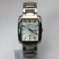 Fossil Womens ES-1234 110911 Silver Tone Date Indicator Quartz Analog Wristwatch
