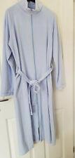 M&S Womens 80% Cotton Velour Dressing Gown Light Blue,Size UK 12-14(EU 40/42)NEW