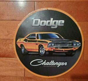 """Dodge  Challenger Mopar Metal Embossed Tin Sign Vintage Garage 12"""" New"""