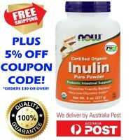 NOW Foods Organic Inulin Fiber 227g Pure Powder Prebiotic Intestinal Support NEW