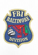 FBI Federal Bureau of Investigation Patch Baltimore Division