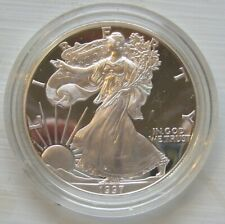 1997 1 oz silver US Proof Eagle in Box with COA TMM*