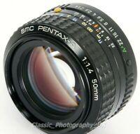 SMC Pentax-A 1:1.4/50 FAST! Lens 50mm F1.4 for PENTAX-K / KA Film & Digital SLR