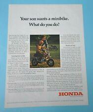 Vintage 1972 Honda Mini Trail 50 Ad, Oversize, Minibike