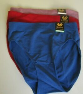 3 Wacoal B smooth Hi-Cut Brief Panty Size Large Style 834175 Pink  Blue & Red