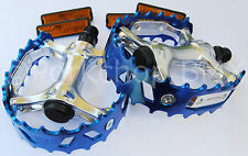 "Old school BMX XC-II VP-747 bear trap pedals 1/2"" (1 PIECE CRANK) COBALT BLUE"