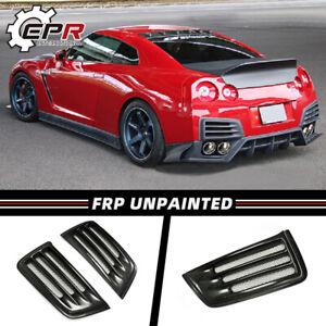For Nissan R35 GTR 2009-16 GT-R CS Style FRP Unpainted 2Pcs Rear Bumper Air Duct
