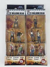 Walking Dead Nano Metalfigs Packs A & B Rick Michonne Carl Daryl Glenn Negan NIP