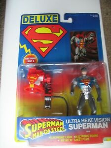 Superman Deluxe Ultra Heat Vision Kenner Action Figure 1996