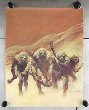 VTG Frank Frazetta 1970s Neanderthal Caveman Science Fiction Scifi Poster Print