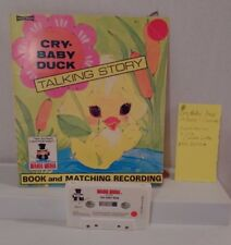 RARE 1975 Vintage CRY BABY DUCK Talking Story Softcover book with cassette
