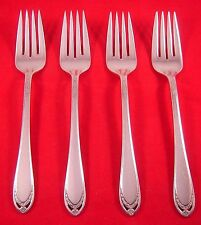 New listing 1847 Rogers Lovelace 4 Silverplate Salad Forks Exc